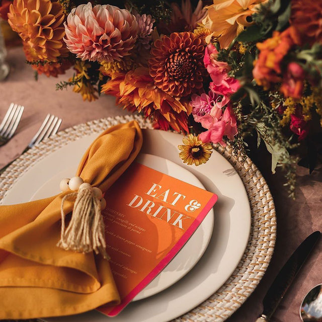 "#MintedWeddingsTip: include menu cards at each place setting so guests aren't left wondering. Plus menus cards are a great way to  accentuate a table setting!   __ ""Basically"" menu card by #MintedArtist Ashley Peterson of @2birdstone   Photo: @adamokimatsu  Florist: @seachangeflower  Design: @bad_boss_bride  Rentals: @pbsevents . . . #engaged #weddingideas #weddinginspiration #weddingdetails #weddingphotography #weddingplanning #weddingflatlay #justengaged #thatsdarling #pursuepretty #theknot #sayido #howtheyasked #marthaweddings #weddingseason #engagementseason #weddingplanner #weddinginvites #savethedate #weddingflorals #menudesign #weddingmenu #weddingreception"