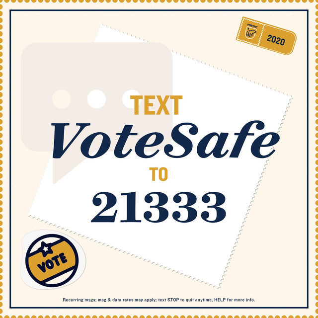 #Voting may look a little different this year, whether you drop off your ballot at an official location or vote in person, we're here with some tips to #VoteSafe! 🗳💚🌎 Text VoteSafe to 21333 or visit the link in our bio.
