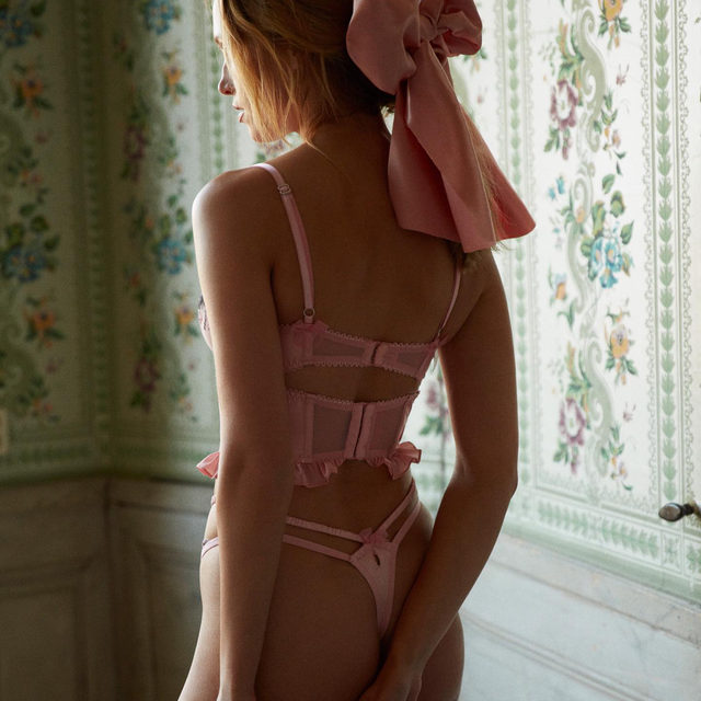 Blushing extra today ☺️ // The Blushing Rose Bustier and Thong Panty #FLLforVS