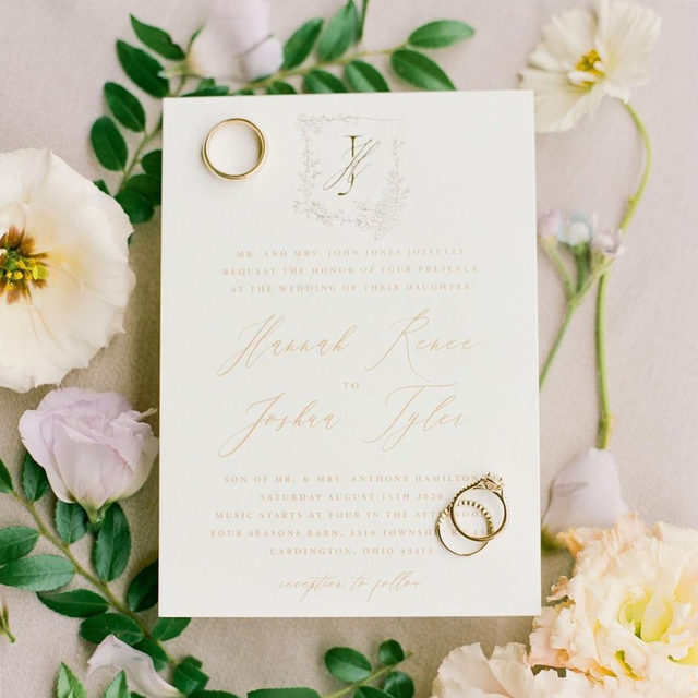"""You're not going to want to miss out on our Semi-Annual Free Foil Event if you've always wanted your Save the Date's or Wedding Invites to shine!   Until Monday 11/16, enjoy 20% OFF all foil-pressed wedding products and 25% OFF save the dates! Use code: SHINE20   Shop the event via #linkinbio!  __ """"Portrait"""" Wedding Invite by @minted Photo: @jennagreenawalt  . . . #weddingrings#diamonds#ido#weddingstationery#stationery#weddinginvitations#weddinginvites#weddingstationeryideas#weddingflatlay#flatlay#engaged#weddingideas#weddinginspiration#weddingdetails#weddingphotography#weddingplanning#weddingflowers#justengaged#thatsdarling#pursuepretty#sayido#howtheyasked#marthaweddings#weddingplanner#weddinginvites#weddingflorals"""