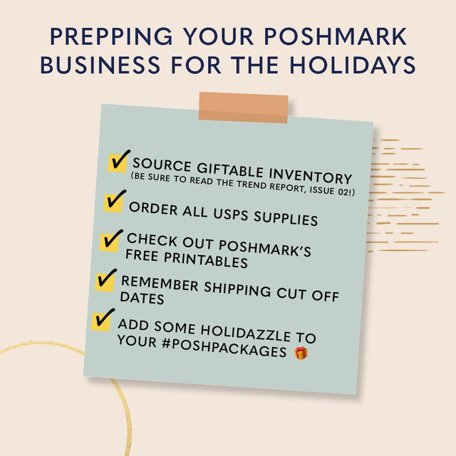 ❄️ 'TIS THE SEASON FOR MAKING SALES! ❄️   We want to make sure you're equipped for this festive time of year with all the #PoshTips and resources you'll need to have the most successful holiday season yet which is why we're excited to share the Holiday 2020 Toolkit.  In this special toolkit you'll find: 🌟 Resources on how to prep your closet to increasing your closet visibility  🌟 A holiday calendar filled with important dates to remember  🌟 Printable thank you cards and gift tags, perfect for your #PoshPackages 🌟 PLUS a Spotify playlist to get you in the holiday spirit!   ➡️ Tap our link in bio to access the toolkit.