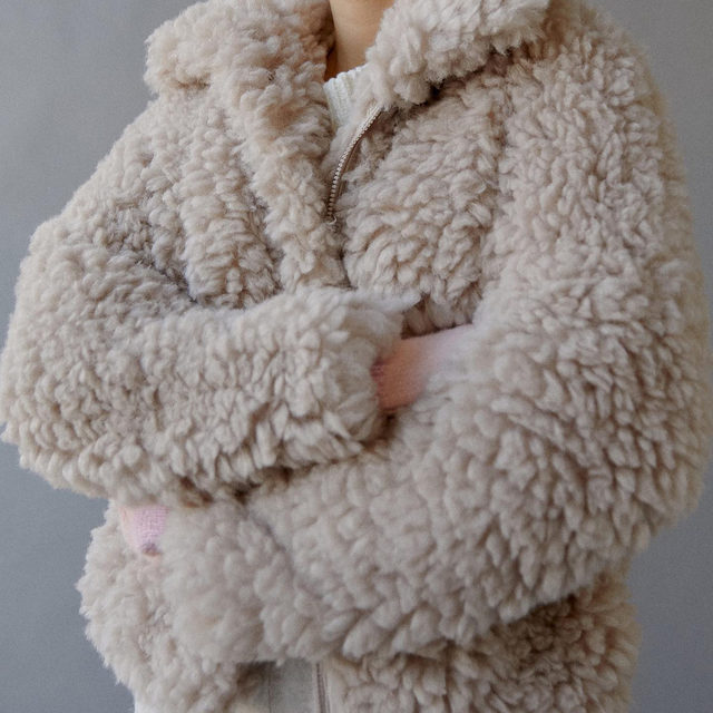 The biggest and fluffiest coat we've got: introducing the Riley Jacket, here to hug you all winter long. Tap to shop!