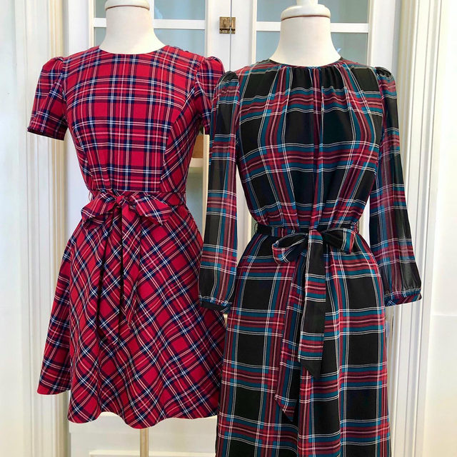 Pick your plaid: Angie ⬅️ or Georgia ➡️ ?  Also: Did you know? You can now buy online and pick up your order at our stores in Nashville, Lexington and Atlanta. Locals, look for the option in checkout draperjames.com 🛍