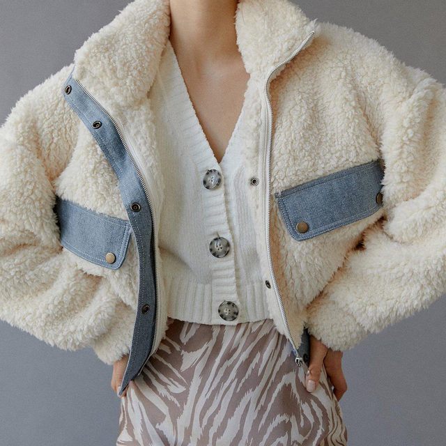 A little denim, a little fuzzy. The Laura Jacket is the best of both worlds. Tap to shop!