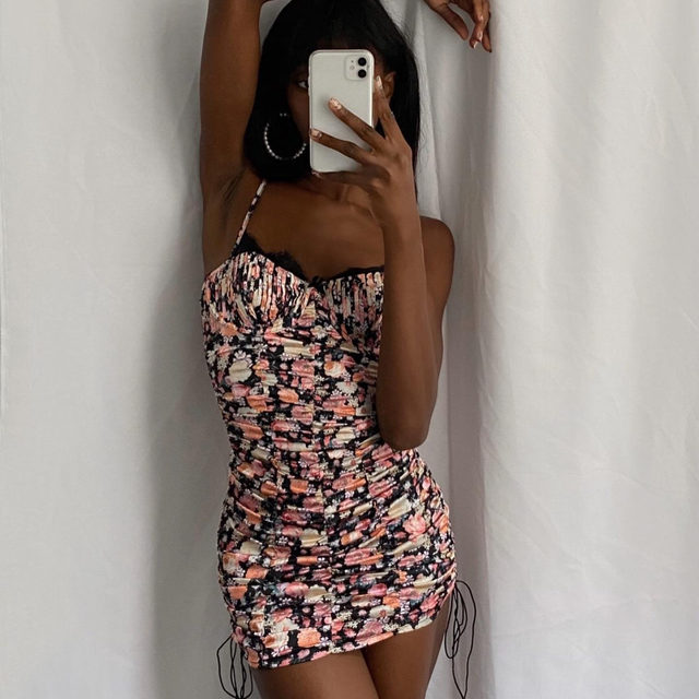 A dress worth showing off // @emmanuellek_ in the Gardenia Mini Dress