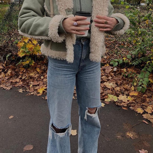 She deserves to be shown off: take the Melanie Faux Shearling jacket out for a stroll.  Tap to shop! @anouskakjones #UOonYou
