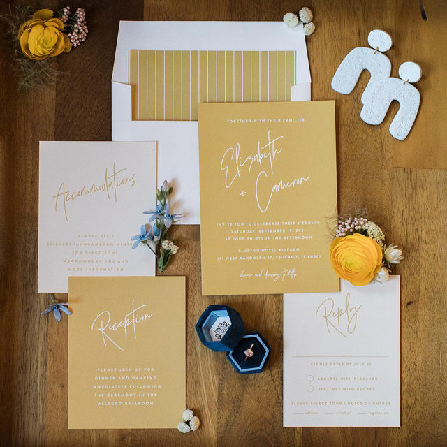 """Styled to perfection. 🌟 #MintedWeddings —  We're looking for a few Minted brides to let us show off their wedding photos and share more about their Minted experience. If you're interested in getting featured on @mintedweddings, email mintedweddings@minted.com with some photos and more info about what made your wedding festivities special. __ """"Marked"""" Wedding Invitations by #MintedArtist JoAnn Jinks of @joann_jinks  Floral: @uofloristry  Photo: @autumnsilvaphotography  Styling + Coordination: @joybydesignmke . . . . #weddinginvites #savethedate #weddinginvitation #weddingflatlay #flatlay #invitationdesign #modernwedding #engaged #weddingideas #weddinginspiration #weddingdetails #weddingphotography #weddingplanning #trendybride #weddingstationary #luxurywedding"""