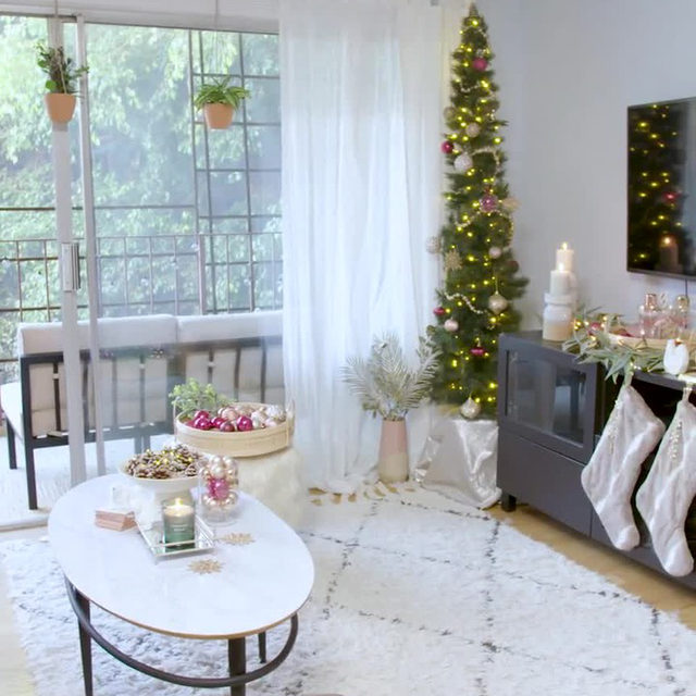 The holidays are right around the corner — and that means it's officially time to decorate. Hit the link in bio, and prepare to take notes as Hunker staffer Lacey Won @laceywonton gives her living room a California-Christmas makeover, all thanks to holiday essentials from @athomestores. #ad