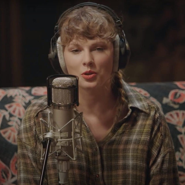 Tomorrow at 3 a.m. Eastern, @taylorswift will release folklore: the long pond studio sessions, a film recorded in the studio with her folklore collaborators, @jackantonoff and @thenational's @aarondessner. Airing on Disney+, the film is set in the National's Hudson Valley studio Long Pond, where the three artists reunited to reflect on folklore and perform stripped-down renditions of the full record, having originally worked on it remotely. Find out more and watch the trailer at the link in our bio.  📷courtesy of Disney+  #TaylorSwift #folklore #DisneyPlus #TheNational #JackAntonoff