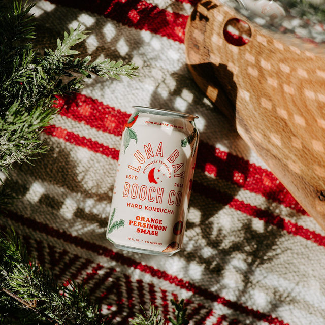 Hard booch but make it festive. Our pals at Luna Bay crafted up an Orange Persimmon Smash just in time for the holidays—and you can try it with us first! Persimmons are THE quintessential winter fruit and combined with a citrusy dash of spice, this sip rounds out to a semi-sweet finish. Grab some to sip up while you hang up the lights, decorate the tree, or binge the Hallmark channel (we won't judge).