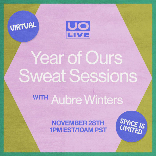 Skipping the turkey trot this year? This Saturday, join  @aubrewinters and @yearofours for a virtual sweat session to start your weekend off right. Space is limited, so reserve yours at the link in bio!
