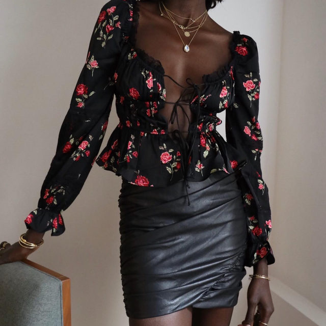 Lovely @lefevrediary in the Rosie Blouse and Dillon Mini Skirt