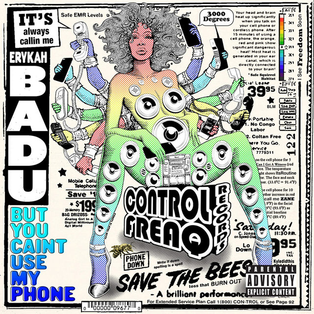 """🌀5 years ago today, @ErykahBadu released her mixtape But You Caint Use My Phone. At the link in our bio, read about why the tape's """"Hello,"""" featuring @Andre3000, is one of our favorite songs of the 2010s.  🎨 by @kyledidthis  #ErykahBadu #OutKast #Andre3000"""