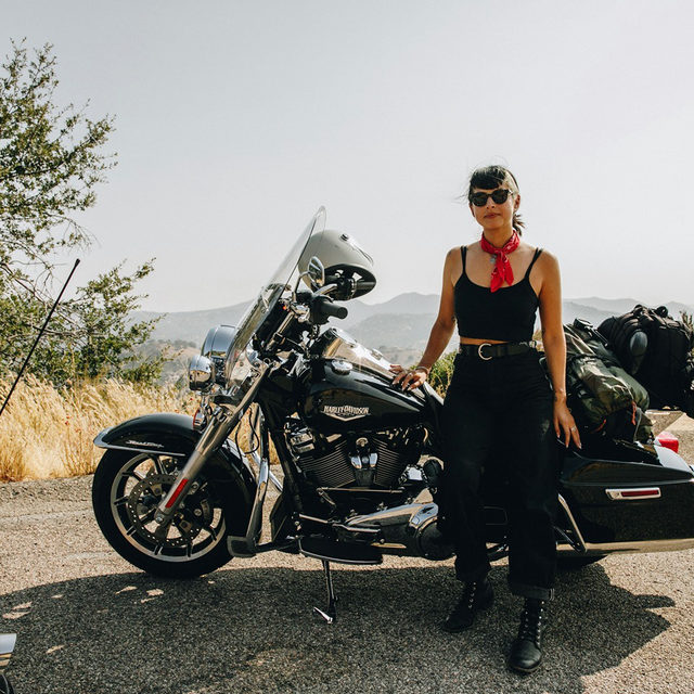 Queen of the Road with @Adri_Law & @EagleRider. #HarleyDavidson #RoadKing #EagleRider