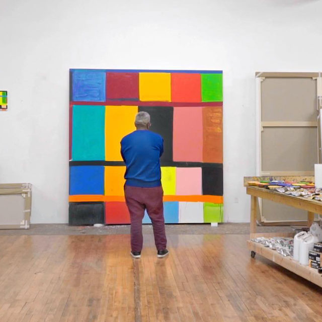 "#GagosianQuarterly: This week, we'll be sharing a selection of the most popular content published on ""Gagosian Quarterly"" in 2020.   First up is a video interview with Stanley Whitney, created while preparing for his first exhibition with the gallery in Rome earlier this year. Whitney speaks with Gagosian director Louise Neri in his New York studio about how he arrived at his unique and intuitive approach to color and space in painting, employing a dynamic fusion of preordained structure and improvisation. Watch the video on IGTV or via the link in our bio.  __________ #StanleyWhitney #Gagosian @stanley.whitney Stills from the video ""Stanley Whitney: Rhythm and Vision"". Artwork © Stanley Whitney; video: Pushpin Films (@pushpinfilms)"