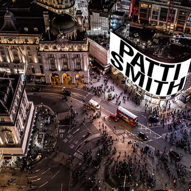 "For two and a half minutes every day of January, Patti Smith will take over London's Piccadilly Lights advertising screen for her month-long installation ""A New Year."" The project is presented by digital arts platform Circa, which commissions a different artist each month to present new ideas that consider our world circa 2021. In this video message, Smith shares her wish for 2021. What is your wish for the year?  The daily recitals will be streamed on the Circa website at 20:21 GMT for viewers to watch safely from home. Visitors walking into Piccadilly Circus are encouraged to wear a face mask and adhere to social distancing guidelines. Follow the link in our bio for more information, or to buy one of four new prints created by Smith as part of the project.  __________ #PattiSmith #PiccadillyLights #Gagosian @circa.art @thisispattismith"