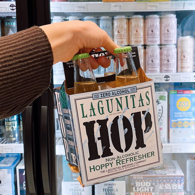 Okay, just because we're forgoing booze right now doesn't mean we can't still enjoy a refreshing sip. Enter: Lagunitas Hoppy Refresher. It's a beer-like bev that's alcohol free! Made with Citra, Equinox, and Centennial hops, it's holds true to its name as it's equally hoppy and refreshing!