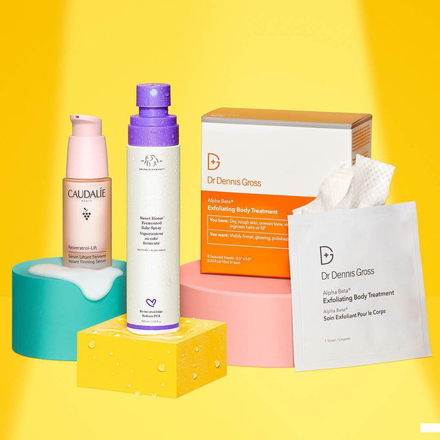 💡 Spotlight on the hottest skincare of 2021 💡 Fight dryness, dullness, and wrinkles with new faves from @drunkelephant, @drdennisgross, and @caudalieus.  Drunk Elephant Sweet Biome Fermented Sake Hydrating Spray  Dr. Dennis Gross Skincare Alpha Beta® Exfoliating Body Treatment Peel  Caudalie Resveratrol Lift Instant Firming Serum