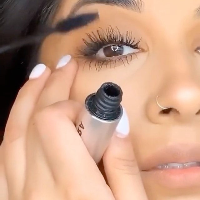 From our friends at @milkmakeup: POV: you're in elementary school watching your older sister get ready, feeling TOO excited for the day you're allowed to wear makeup too 😭 @_rakhstar making long lashes a breeze with the cult fav, clean + vegan KUSH High Volume Mascara 💨 SHOP at Sephora.  KUSH High Volumizing Mascara