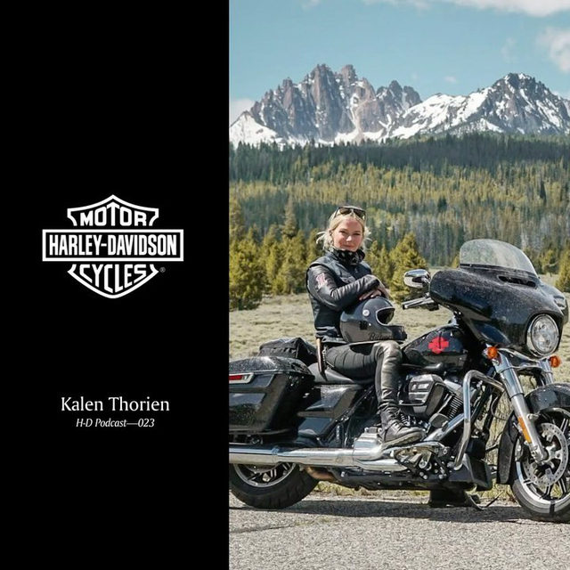 Listen to professional skier turned motorcycle enthusiast @KalenThorien speak about her love of adventure on and off two wheels in the latest H-D Podcast. #HarleyDavidson