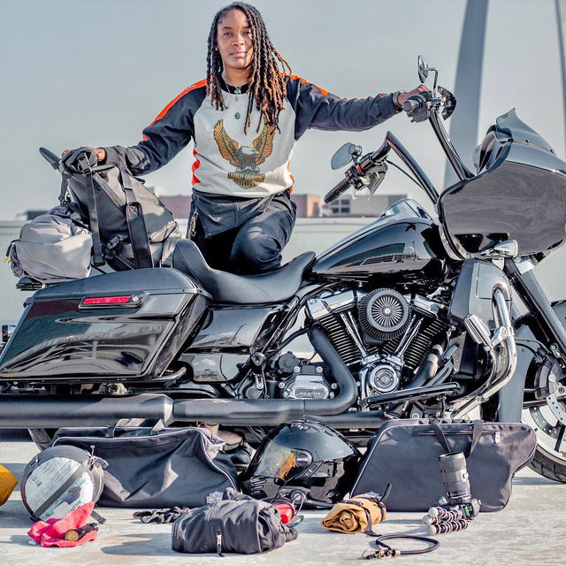"""A road trip can be an amazing experience for the mind, body, and soul. It's a way to relax and escape from everyday anxieties, feel the wind against your skin, and become one with nature.""   Hit the link in our bio to learn more about @queen.sit and her road trip essentials in latest issue of The Enthusiast.   #HarleyDavidson"