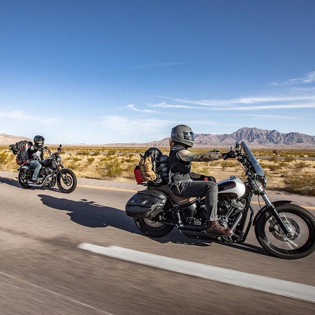 Weekend miles are always better with friends. #HarleyDavidson