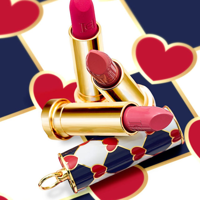 Don't you just love being in love? Get ready to see La Vie en Rose this  Valentine's Day with the new Herrera Fabulous Kiss collection and the Love Wins lipstick cap. Buy online at carolinaherrera.com for Spain and UK. #HerreraBeauty