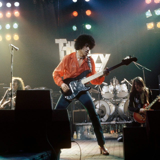 🌞 The Sunday Review:  With Jailbreak, @thinlizzy managed to capture everything that's beautiful and good about rock'n'roll, and none of its ugly truth. Read our Sunday Review of this focused, confident album at the link in our bio.  📷 Thin Lizzy performing live onstage at the Hammersmith Odeon, London UK. By Erica Echenberg / Getty Images.  #thinlizzy #sundayreview #jailbreak