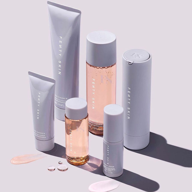 From our friends at @fentyskin: Want to try our FENTYSKINSTARTRS but not sure you wanna commit to the full-sized options? Try our mini set, featuring the same 3STEPWITHIT system in supa cute bite sized packaging!  Available at Sephora.  FENTY SKIN Fenty Skin Start'r Set