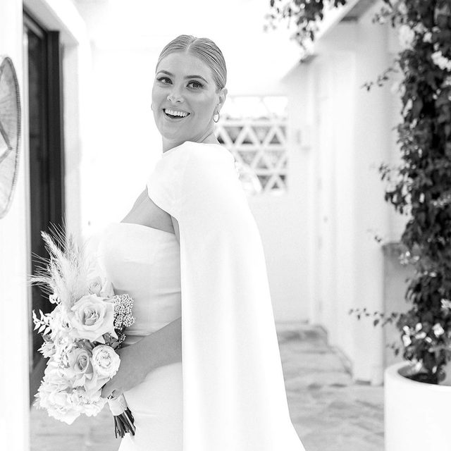 Bold yet simplistic. A sleek and superbly proportioned crepe gown that you can personalize to create your own wedding look, its Williams from the #HollywoodGlamour Collection. Try it on at your nearest #Pronovias.⠀ ⠀ Photographer: @lobbyolivia via @whitelilycouture ⠀⠀ Hair: @bombshell_hair_weddings⠀ MUA: @xsentuate_makeup⠀ Venue: @nextdoorespresso⠀ Model: @caitlin_robertson⠀  @whitelilycouture