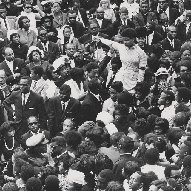 "Remembering Reverend Dr. Martin Luther King, Jr. on this day: This historic image of the crowd at the public funeral of King in April 1968 was taken by Moneta Sleet, Jr. The first African American to win the Pulitzer Prize for journalism, Sleet was also known for his high-fashion photography. The image is one of thousands that constitute Theaster Gates's Black Image Corporation project, which grew out of his engagement with the legacy of the legendary Johnson Publishing Company. Gates's work, with its message of resilience and its insistent exploration of questions surrounding agency, history, and material conditions in Black culture, led us to select the image for the cover of the fall 2020 issue of ""Gagosian Quarterly,"" along with a related feature in the issue. Read the interview via the link in our bio. __________ #MLK #MartinLutherKingDay #MonetaSleetJr #TheasterGates #GagosianQuarterly #Gagosian  @theastergates  Photo: Moneta Sleet, Jr., 1968. Johnson Publishing Company Archive. Courtesy Ford Foundation"