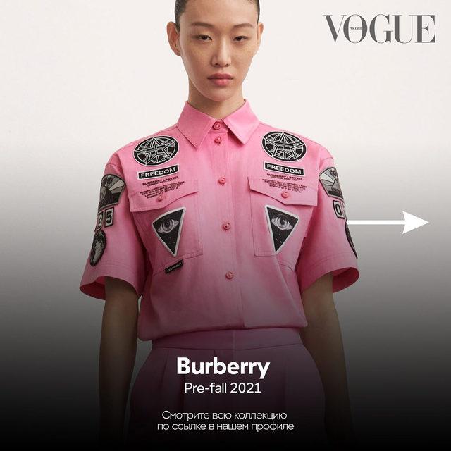 Всю коллекцию Burberry Pre-fall 2021 смотрите по ссылке в нашем профиле и в приложении Vogue Collections на iOS  ✨  Hit the link in our profile bio to see #Burberry Pre-fall 2021  #voguerussia #voguerussiacollections