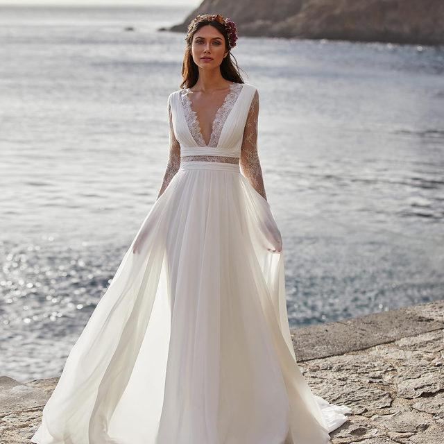 Vote for your favourite boho wedding dress: 1,2,3 or 4?  Dresses: Barry, Bernadette, Granville and Charisse. #Pronovias