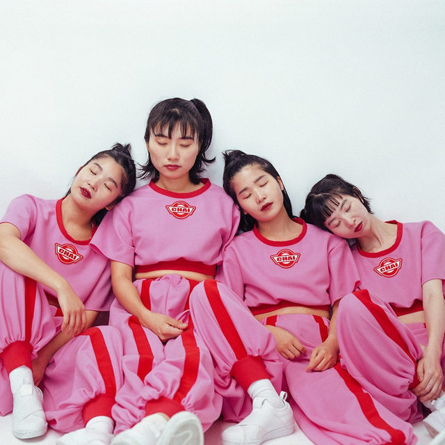 """Our pink outfits show we're not just cute: This is what cool women wear. The reason the outfits have the belly button [cut out] is, in Japan, people tend to be reserved, and they don't show their skin. And we want to do the opposite, like: We don't care. We're free."" At the link in our bio, get to know CHAI (@chaiofficialjpn), the rock band redefining what it means to be cute.   📷 by Ebru Yildiz  #Chai #ChaiJapan #Rock #Interview"