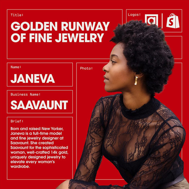 """Starting a business is more than just finding a product and selling it - it's about telling a story that your customers can relate to. For Janeva, owner of @saavaunt jewelry, that is at the core of everything she does. Every collection in her jewelry line has a story, and every piece symbolizes something.  But how did a successful model like Janeva transition careers into designing a full jewelry collection and running a successful e-commerce business?""""I've learned to stay true to my vision and believing the idea I have is valuable. It's often easy to get swayed and distracted by thinking people are not going to like my designs. But what I create will find the right people, and they will love it. You have to stick to your vision, believe in it, and roll with the punches,"""" explains Janeva.  Tap the link in bio to read the full interview with Janeva and learn what her biggest advice to a new jewelry entrepreneur would be.  This story is part of a week long partnership with @artsymagazine - a publication doc"""