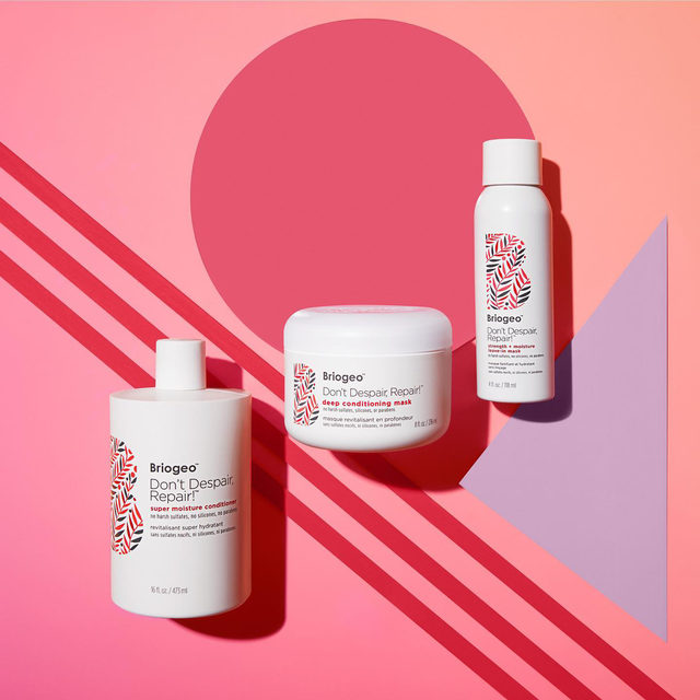 """It's time to HIIT all your Strength + Conditioning goals! 💪🏻 Our healthy hair """"fitness"""" routine features our award-winning Don't Despair, Repair! collection-it's clinically proven to strengthen + repair dry, damaged hair. When used all together as part of your hair care regimen, you'll notice softer, smoother hair, more manageable hair! 🛒 Shop the complete Don't Despair, Repair!™ collection at @sephora + Briogeo.com"""