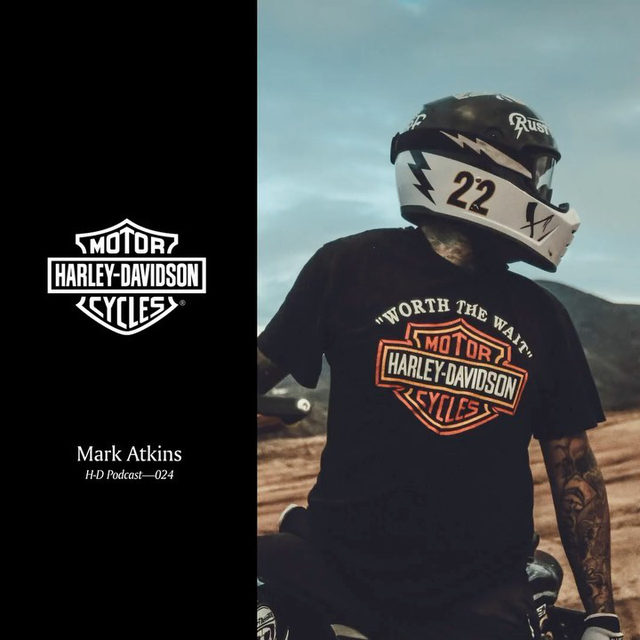 Listen to Harley Hooligan and off-road racer Mark Atkins from @RustyButcher in the latest H-D Podcast. Hit the link in our profile to tune in now. #HarleyDavidson