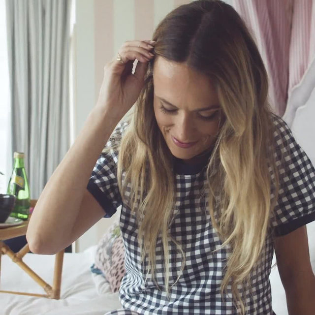 Classic meets cozy 🛏💫💤 Our best-selling gingham loungewear is back in stock in our signature navy. So comfy, so cute, you'll want to wear it all day, everyday. #djlovesgingham #draperjamesathome