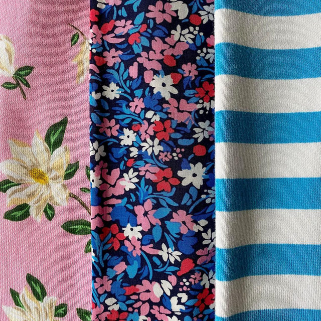 The forecast says snow and ice, but we're dreaming of spring and new prints 🌸🌺💙. Stay safe, everyone!