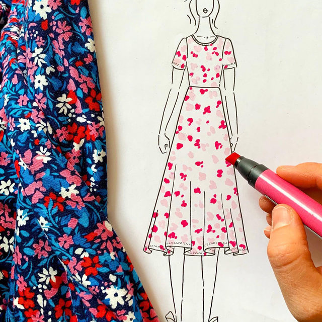 The itsy bitsy ditsy floral — our new favorite print for spring 🌺🌸🎨✍️ by @kathrynsukey