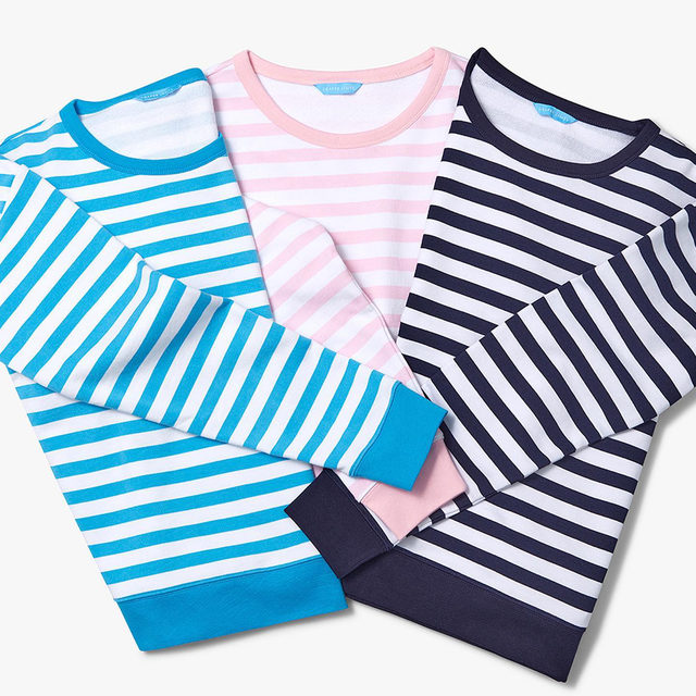 Line up, y'all 💙 We're hosting a 36-hour Flash Sale, starting RIGHT NOW through tomorrow at midnight, with steals on classics like these sporty striped sweatshirts —everything under $100!  #draperjamesathome