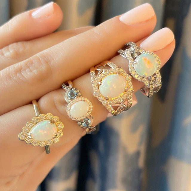 Opal overload! A ring for every occasion or style which would you wear?  Link in bio to shop the pieces! #LeVianColors