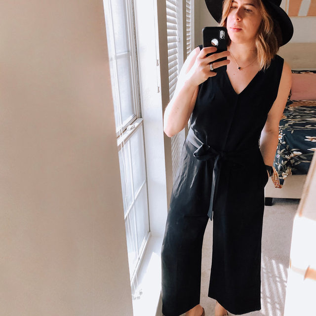 The black jumpsuit...the perfect wardrobe staple. That one + done piece you can style up as casually or as dressed as you like. Meredith just found this @Everlane Go Weave jumpsuit + she says it's perfection. She styled it 3 ways: classic with sandals, casual with sneaks, and dressy with heels + a sequin duster...because why not. Check them out on the blog. . Click the link in our bio to see all of her looks + to shop this piece. . . . . . #everlane #jumpsuit #birkenstock #fashion #fashionblogger #instafashion #outfitdetails #ootd #everydaystyle #dailyoutfit #fashioninspo #fashionlove #ootdinspiration #ootdinspo #ootddetails #ootdwomen #cantwaittowear #whatiamwearing #stylegoals #fashionlooks #fashionedit #styleblogging #fashiondetails #fashionaddict #stylehunters #themomedit #TMEfashion