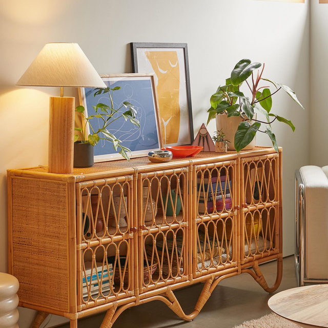Psst... if you're a fan of the Melody Rattan Storage Cabinet, we just added an even larger size to store your favorite things. Link in bio to shop! #UOHome