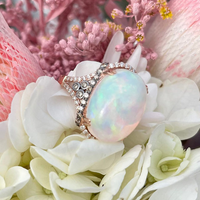 Spread love like flowers in spring. Featuring this gorgeous opal ring in full bloom!✨✨  Link in bio to shop!  #levianColors