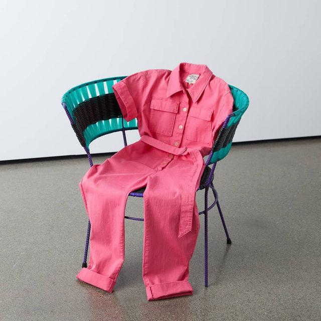 Sitting pretty 💗 Our new utility inspired jumpsuit in bubblegum pink  #BaumFamily #BaumundPferdgarten