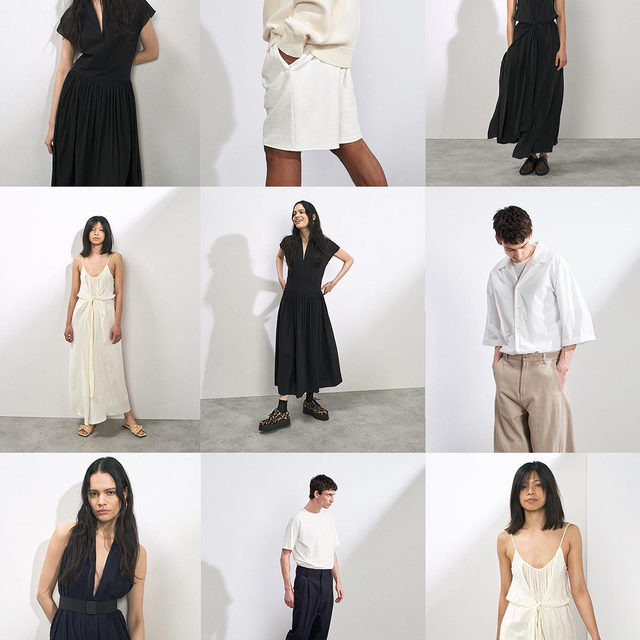 New drop - Our latest womenswear and menswear is now online.  Silk and cotton dresses. Exaggerated-leg chinos and oversized shirting.