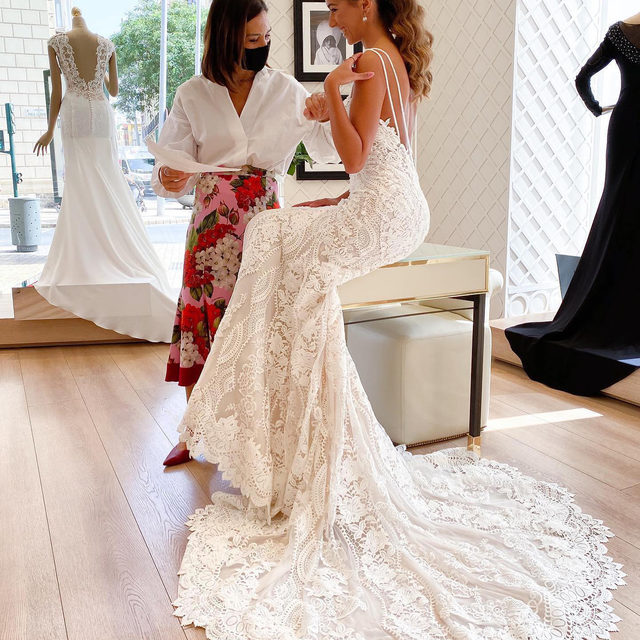 """""""Brides-to-be have a special kind of magic. The happiness and smiles on their faces that makes me feel blessed of having the opportunity of dressing their dreams."""" - @alessandrarinaudo , Pronovias Chief Artistic Officer  Ready to find your dream dress? Book now your appointment on the link in bio. #Pronovias  Dress: Floriana  #Pronovias 