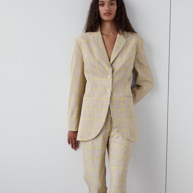 Our classic suit is back for 2021, updated with a subtle yellow check   #BaumFamily #BaumundPferdgarten