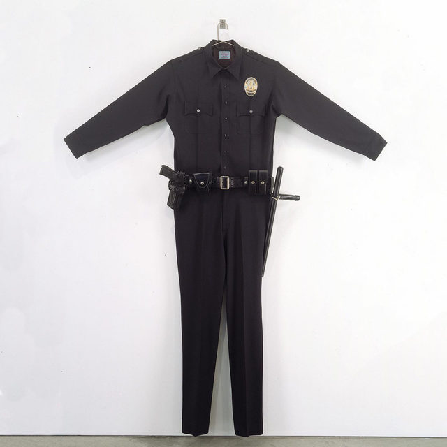 "Chris Burden features in the most recent issue of ""Modern Matter."" The magazine focuses on Burden's artistic practice, and includes artworks such as ""L.A.P.D. Uniform,"" an edition of thirty powerful and politically charged oversize replicas of the L.A.P.D.'s standard wool uniform. The work reflects on the Rodney King trial and the Los Angeles riots of 1992, serving as commentary on the complicated relationship between the public and authority. The issue, titled ""It's Time to Listen,"" includes an accompanying vinyl that features the artwork on its cover. Follow the link in our bio to find out more.  __________ #ChrisBurden #Gagosian @modernmattermagazine @yayoi_shionoiri (1) Chris Burden, ""L.A.P.D. Uniform,"" 1993 © Chris Burden / Licensed by the Chris Burden Estate; (2) Issue 18, ""Modern Matter"""